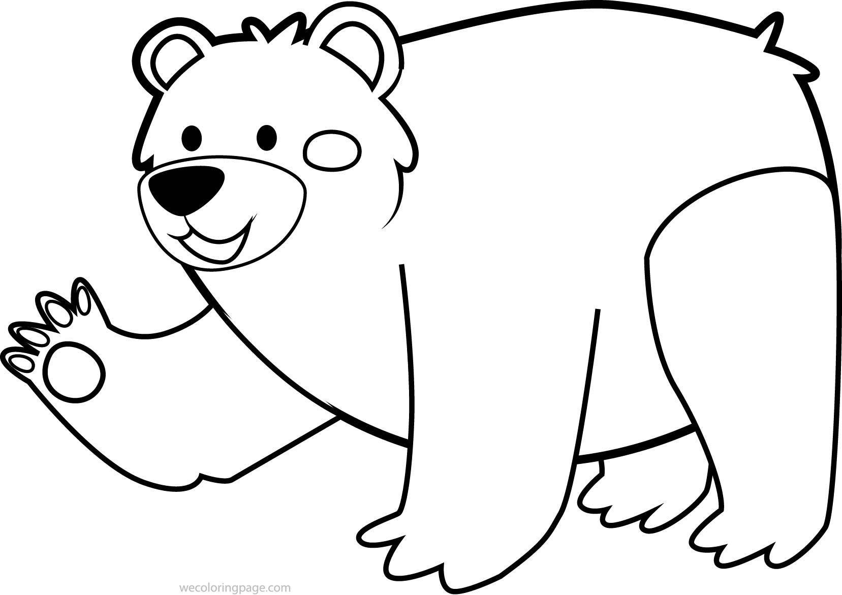 Cute Animal Bear Coloring Page Wecoloringpage