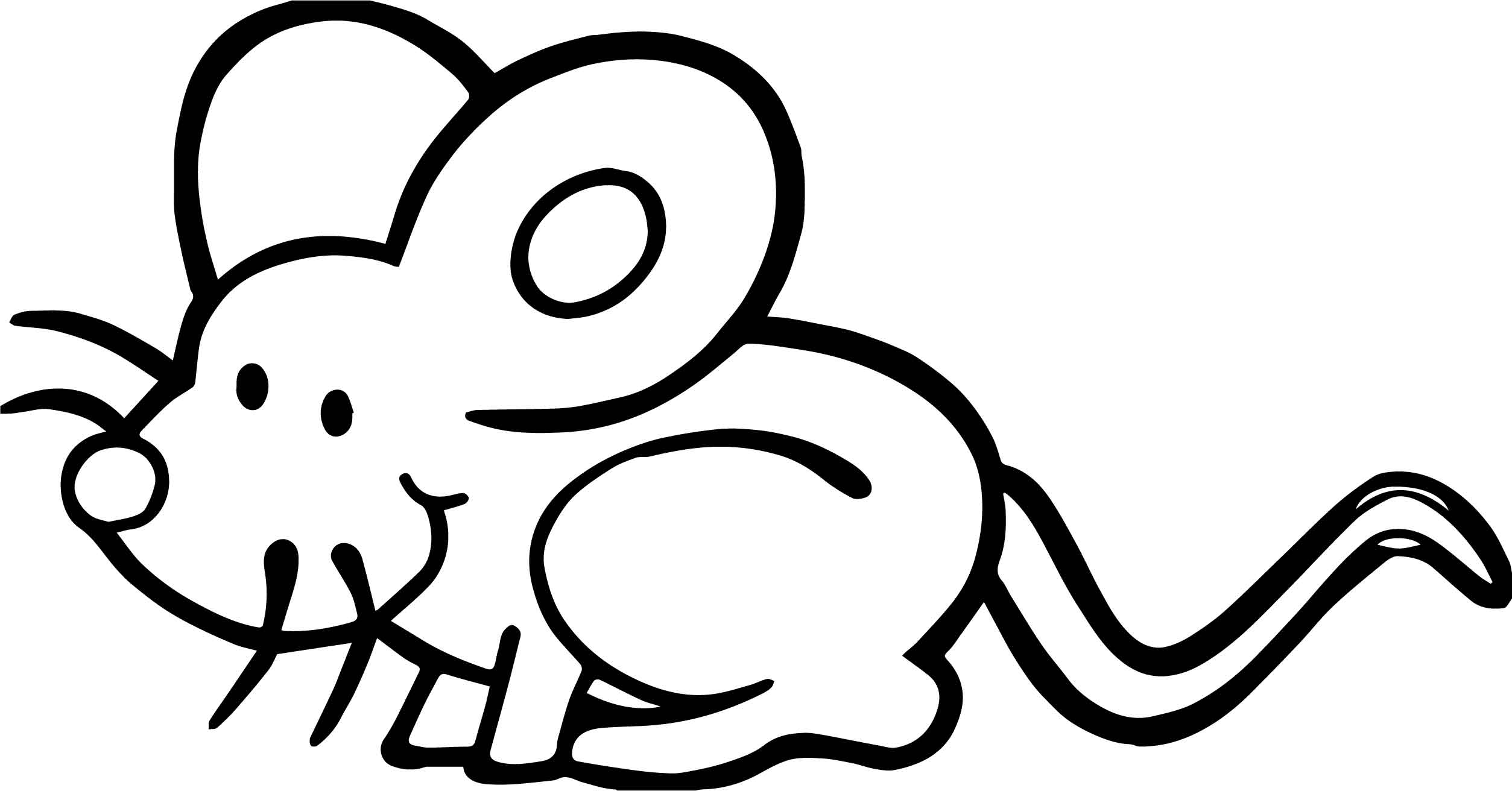 Mice Coloring Page Az Pages Sketch Coloring Page