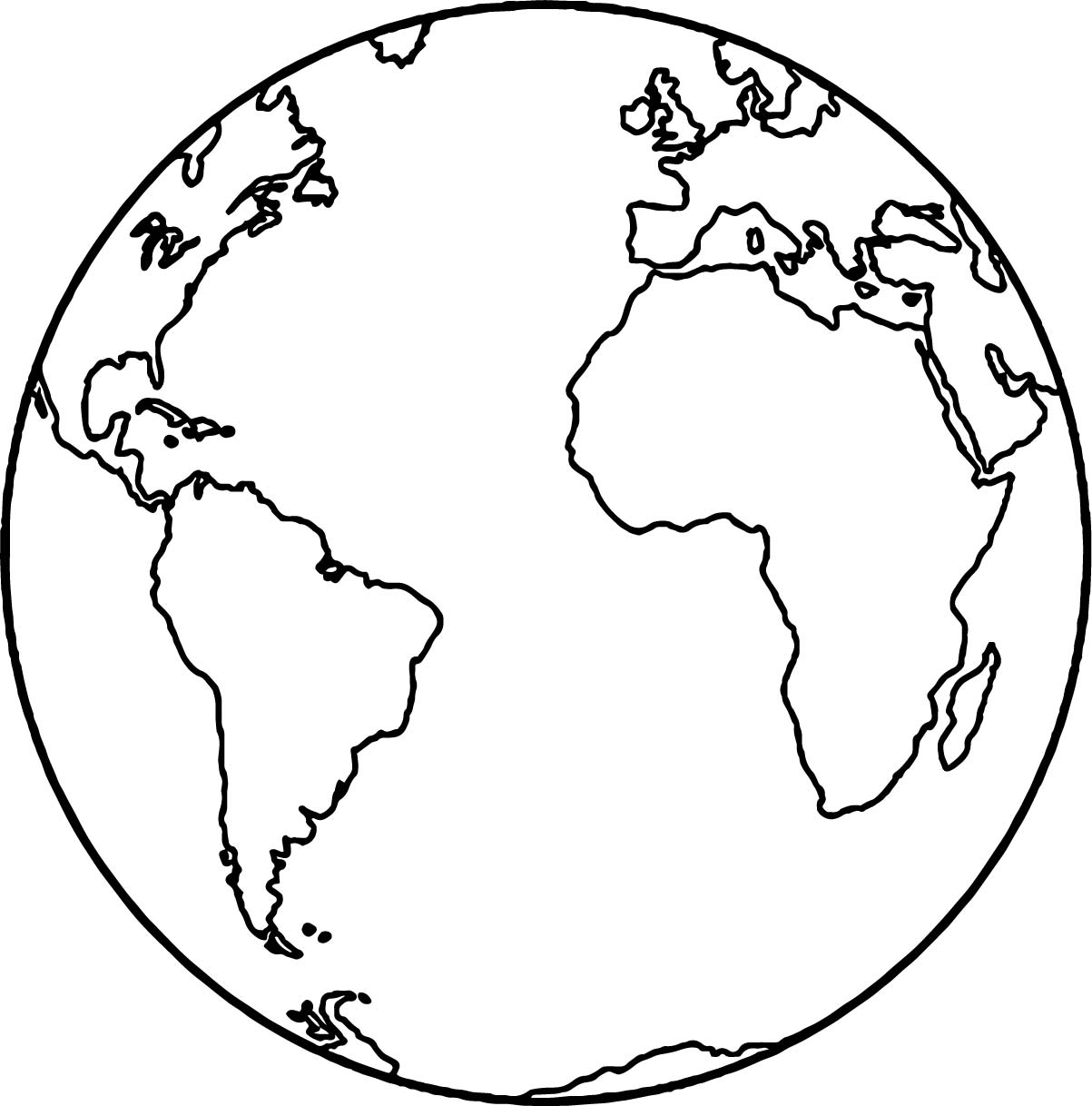 Earth Globe Coloring Page