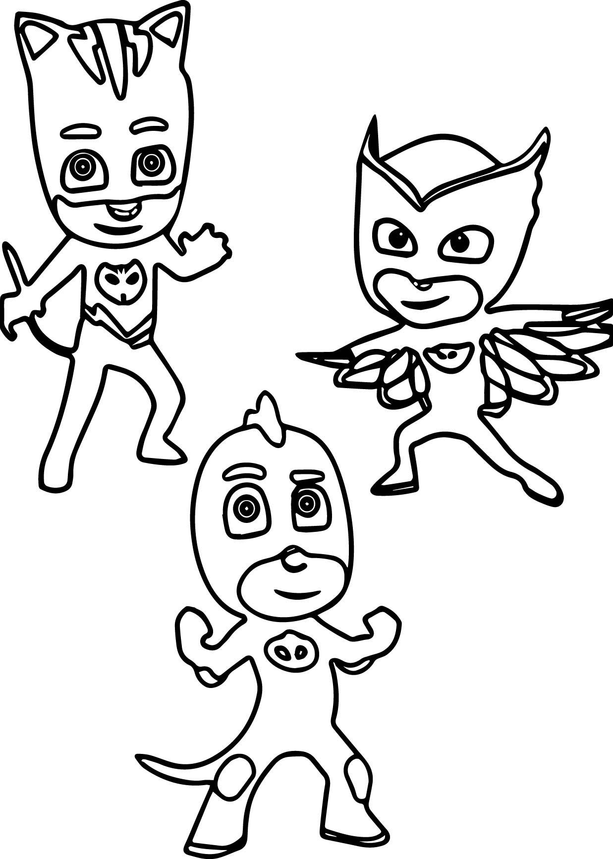 Pj Masks Printable Coloring Page