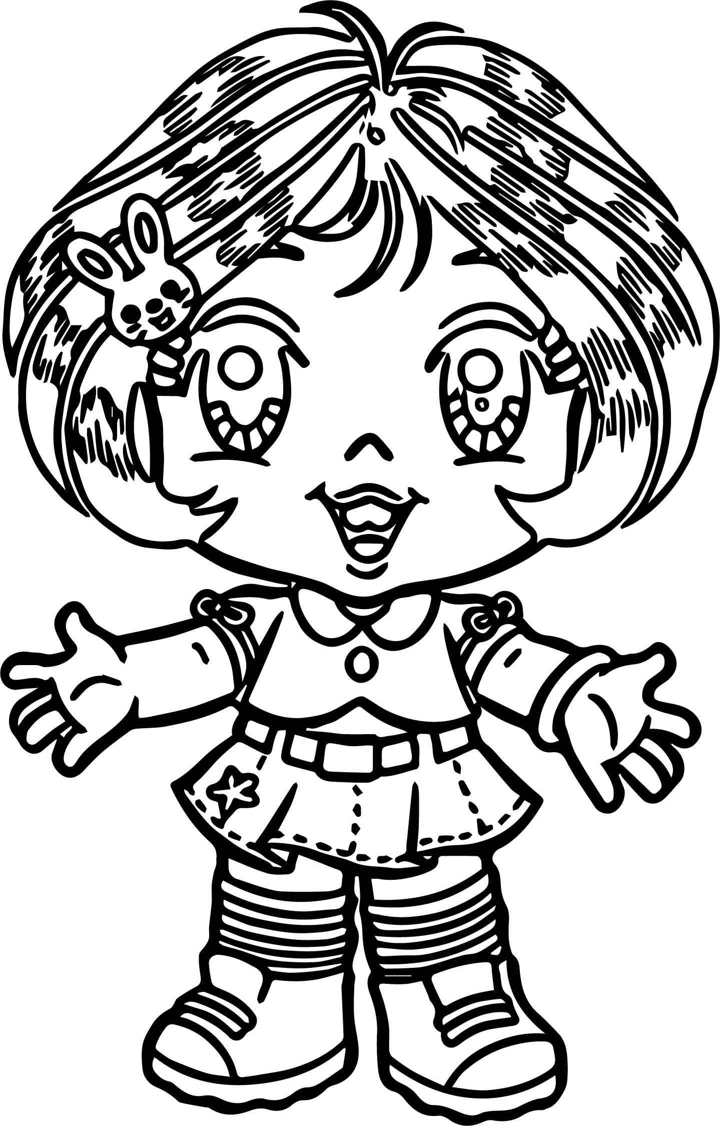 Turma Da Mônica Beautiful Girl Cartoon Coloring Page