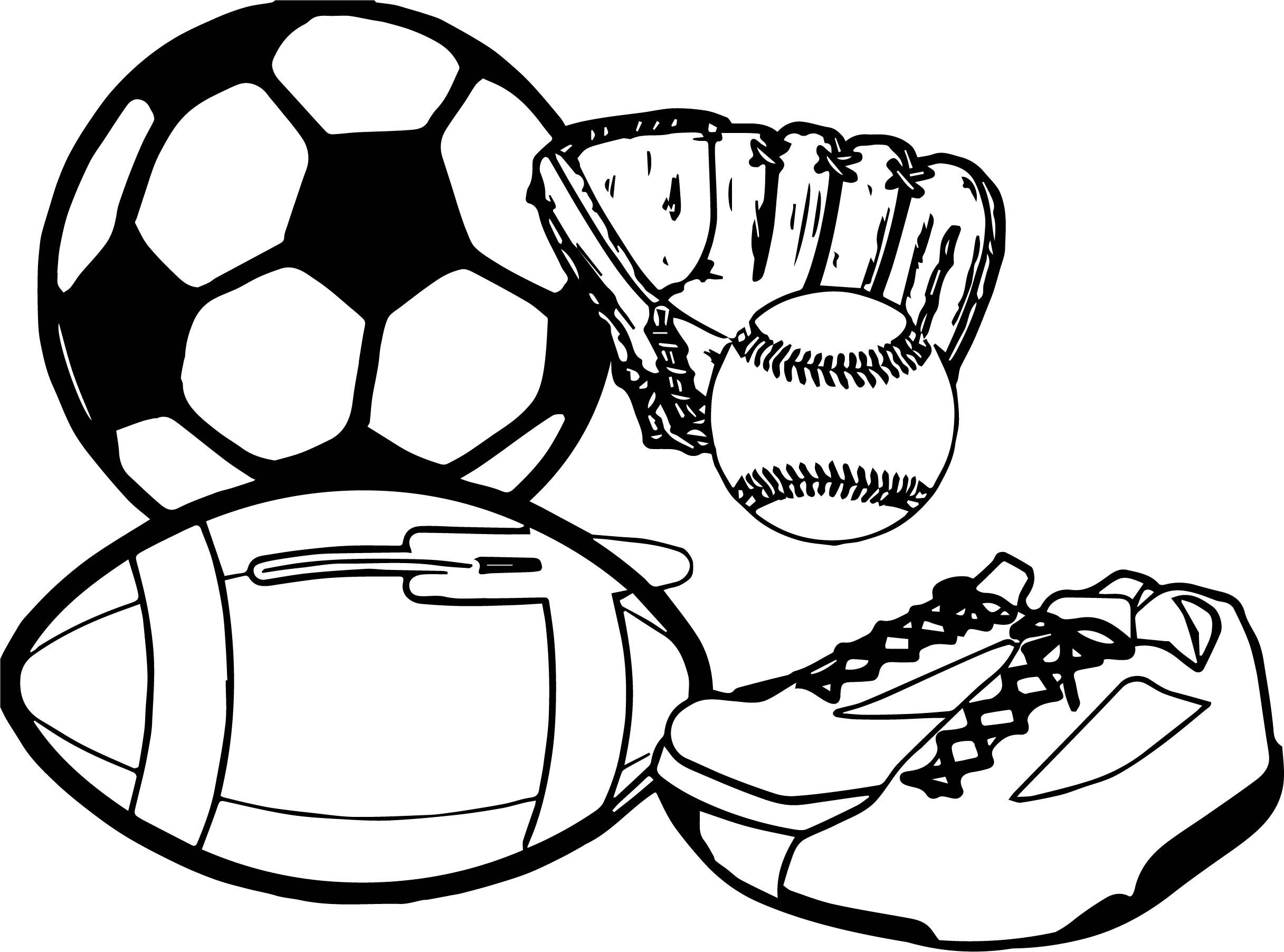 Activity Sport Coloring Page