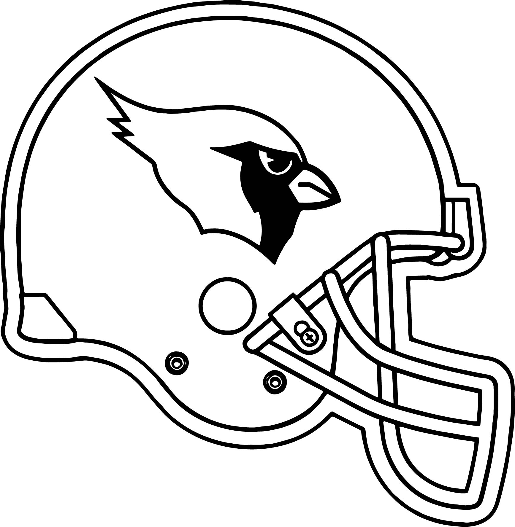 Arizona Cardinals Helmet Coloring Page Wecoloringpage