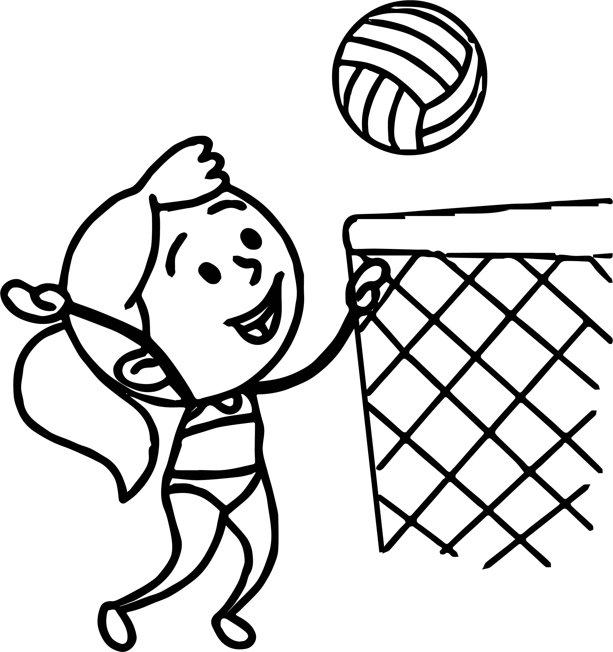 Easy Drawing Volleyball Volleyball St Cyprian Catholic School