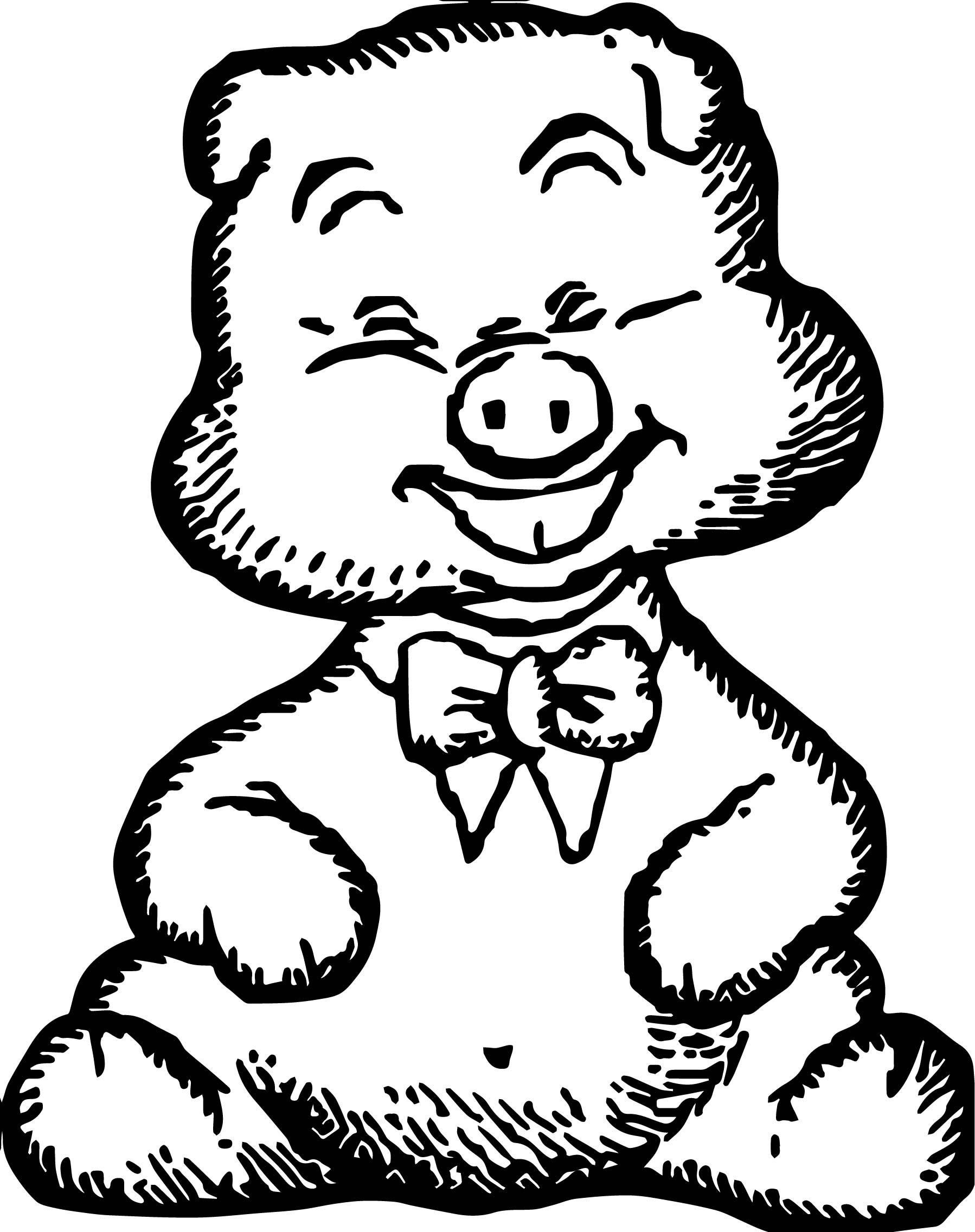 Baby Pig Animal Coloring Pages Sketch Coloring Page