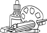 Nap Art Supplies Coloring Page | Wecoloringpage.com