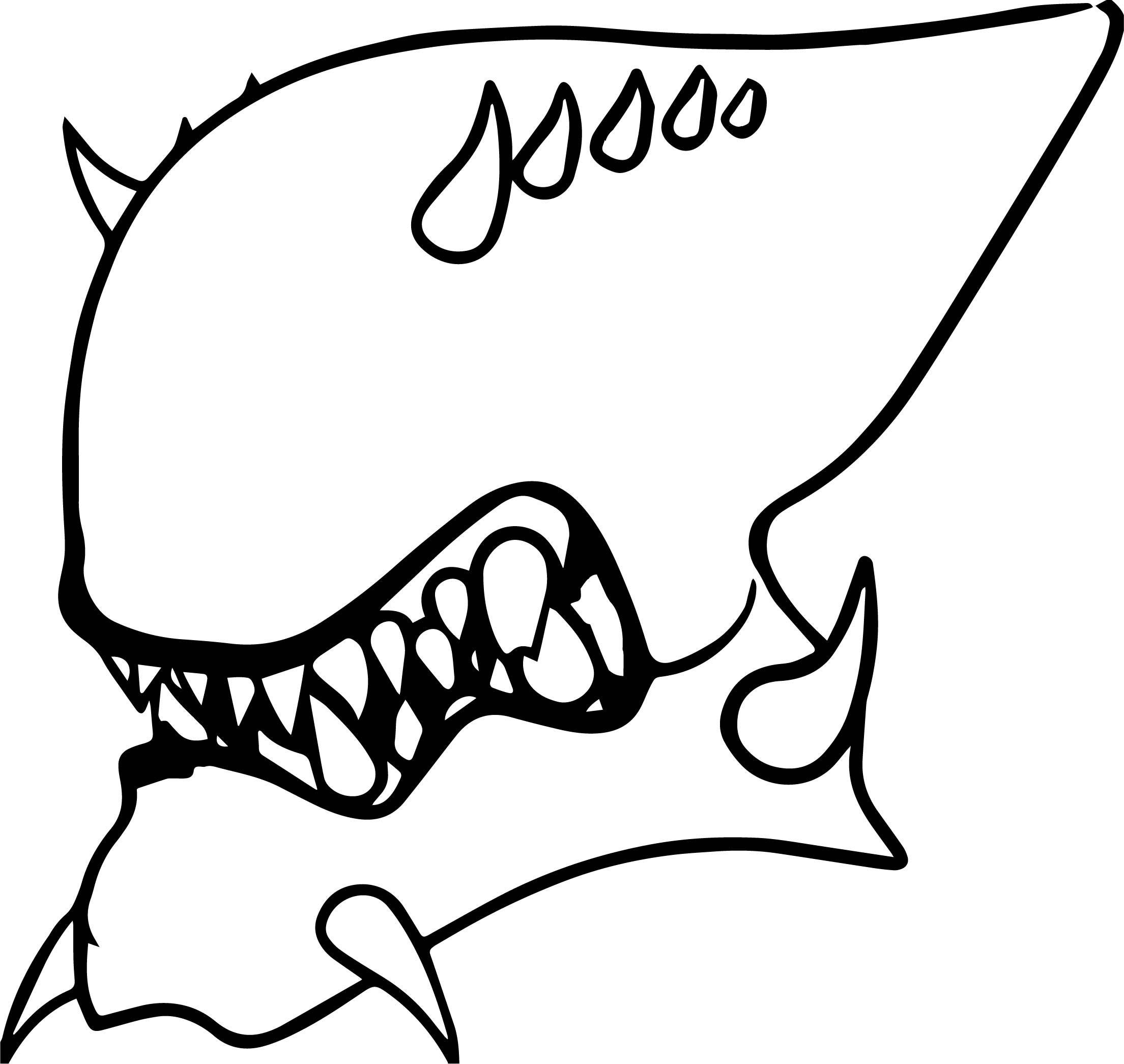 Alien Face Coloring Pages