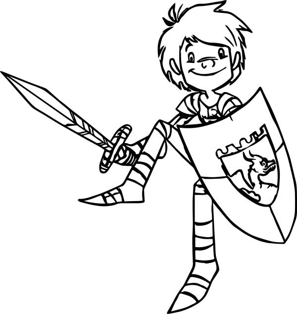 knight coloring page # 47