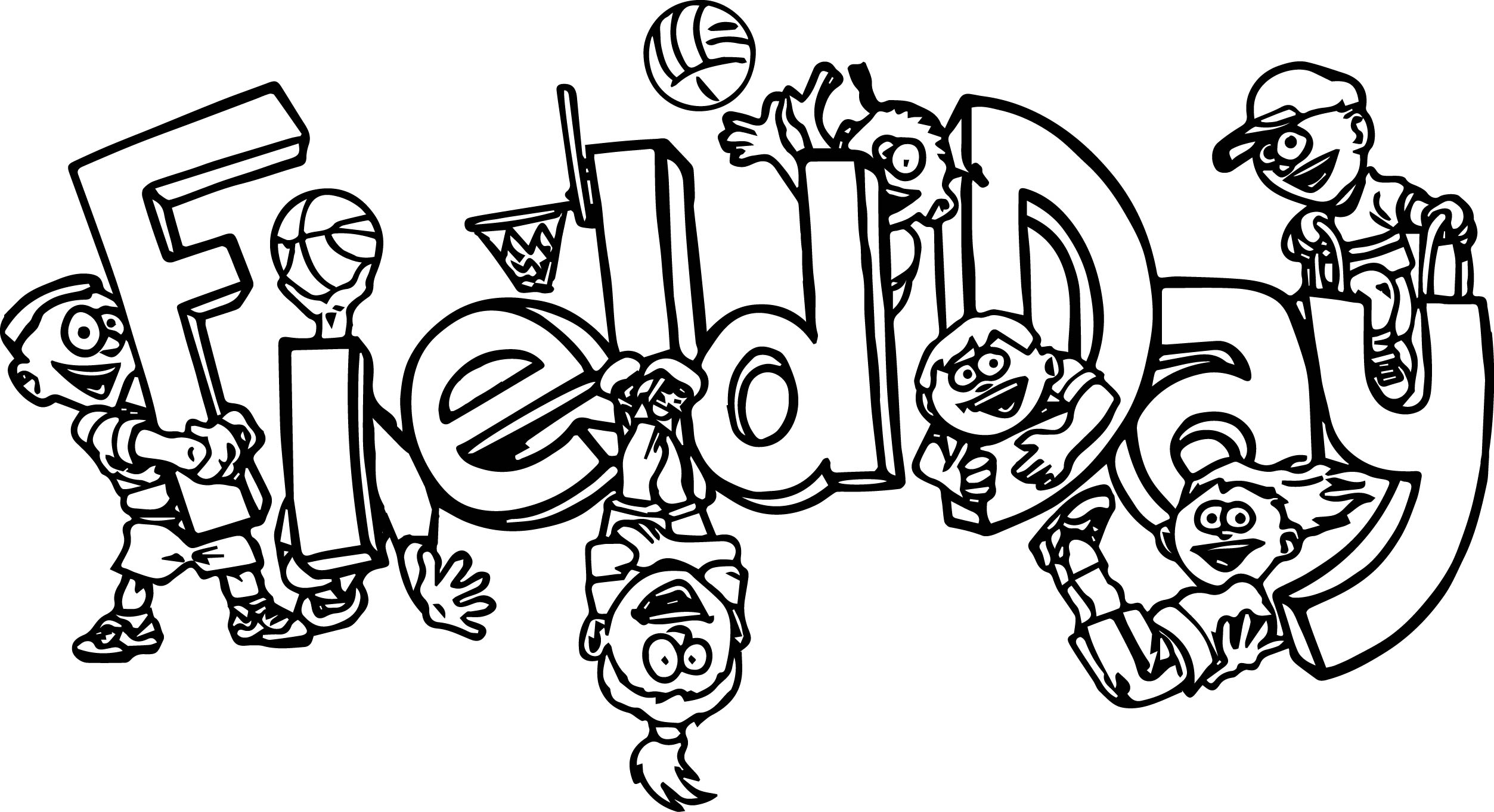 100 Days Of School Field Day Coloring Page