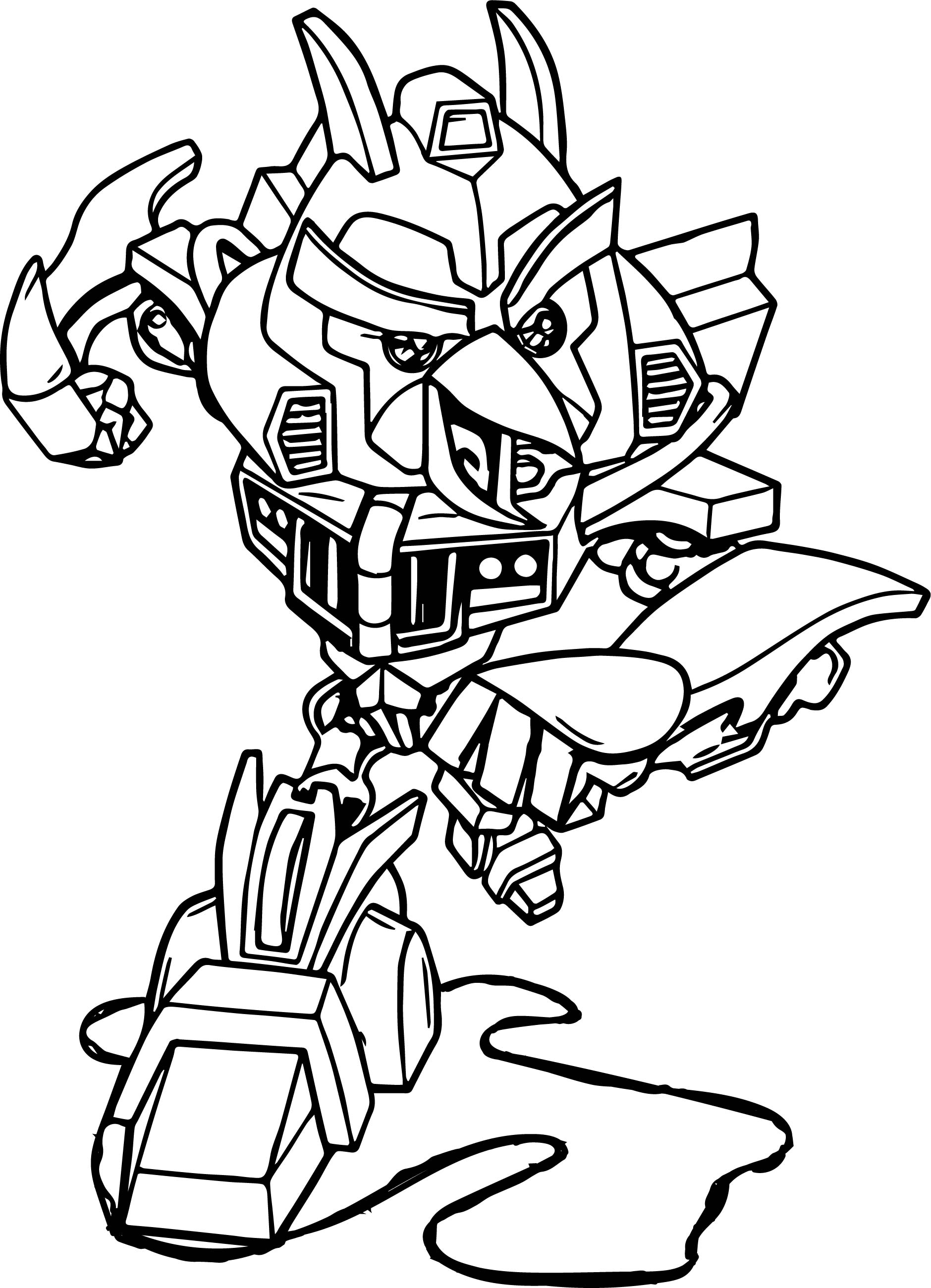 Power Ranger Ninja Storm Megazord Coloring Pages