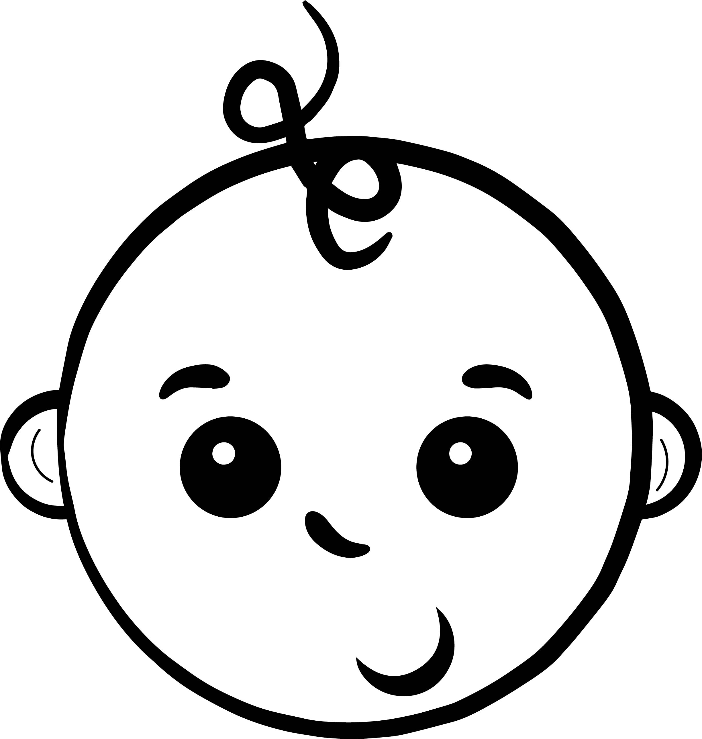 Baby Boy Face Coloring Page