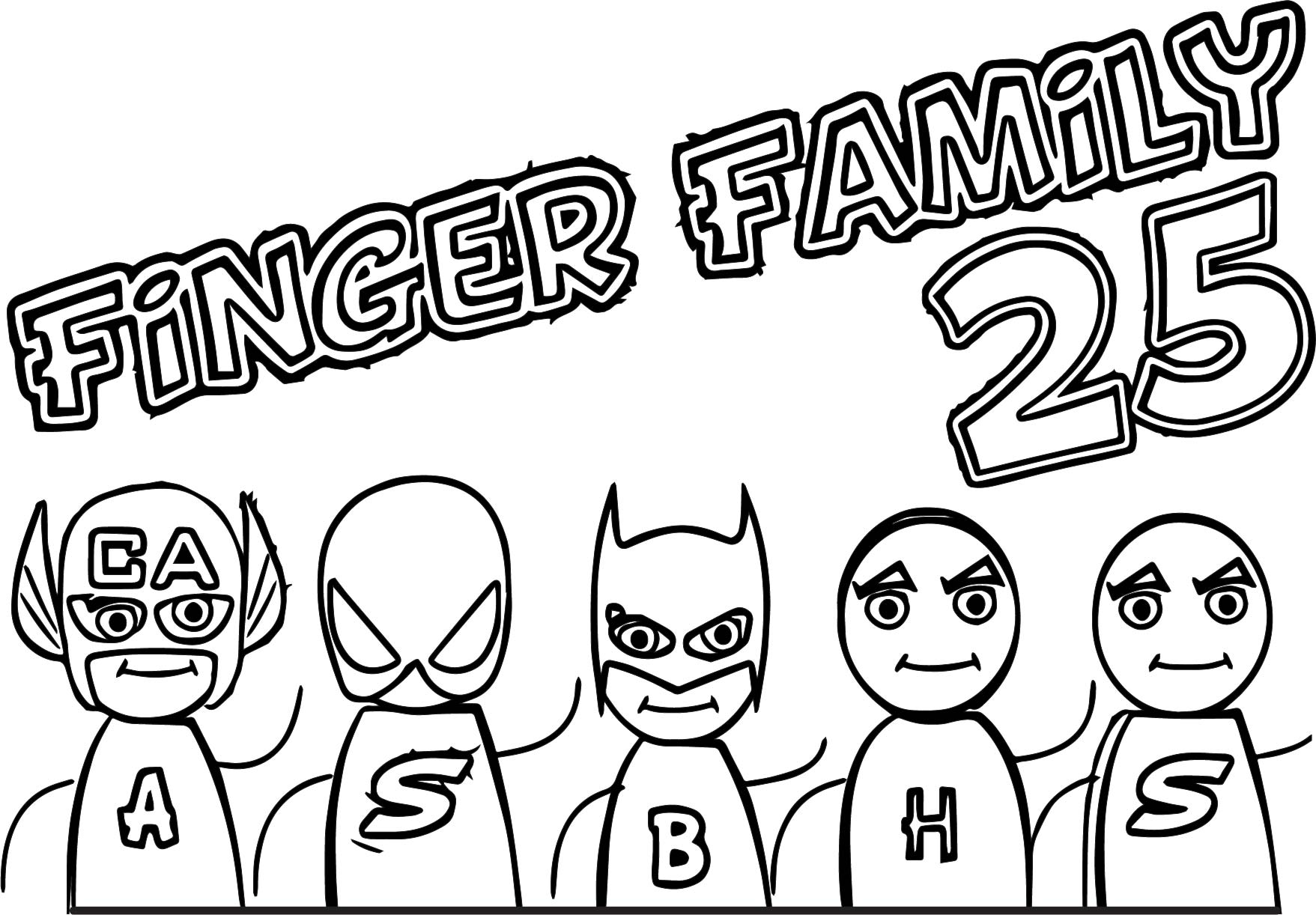 Finger Family Pages Coloring Pages