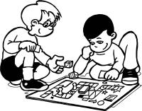 Funny Board Game Coloring Page | Wecoloringpage.com