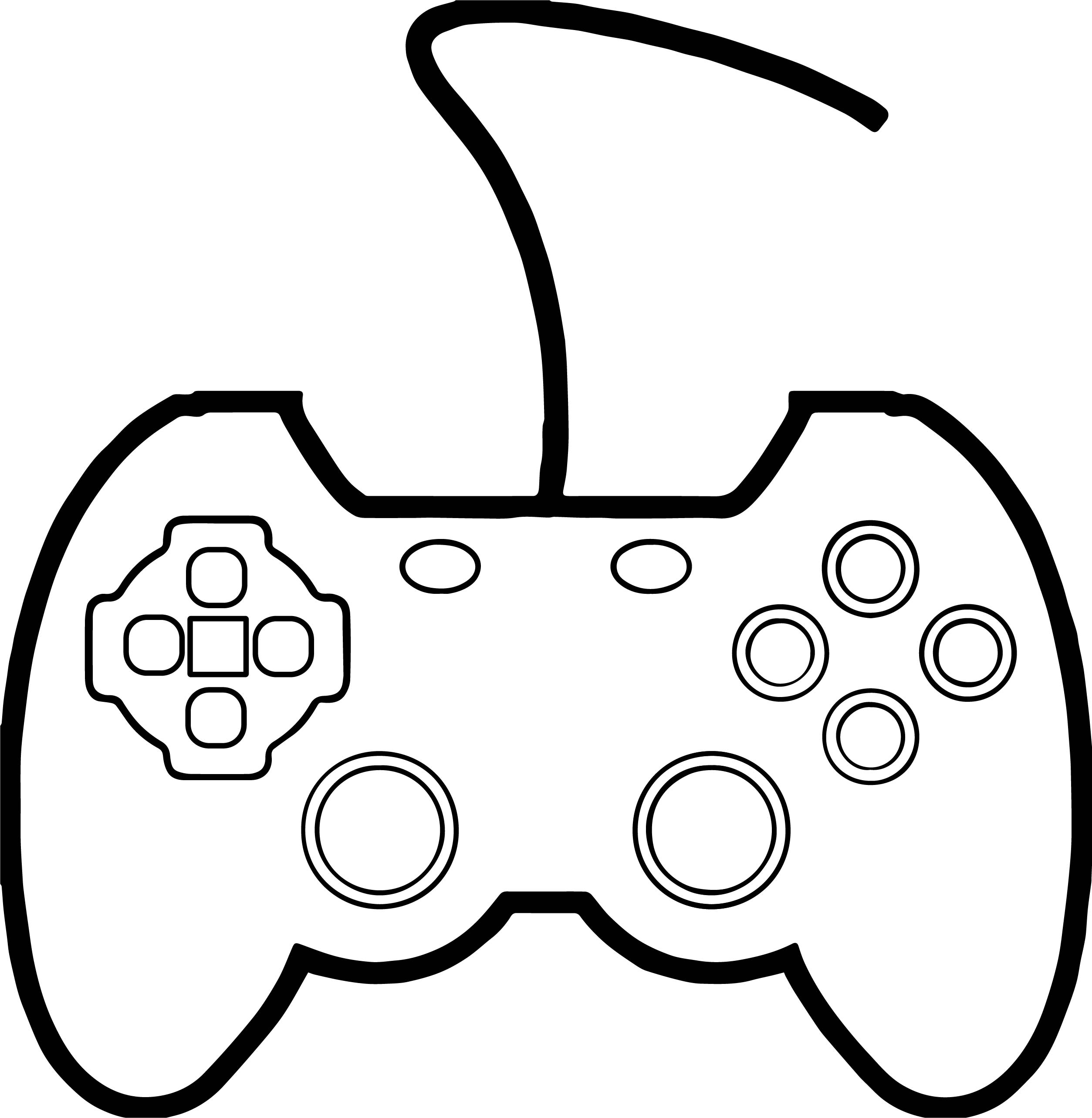 91 Coloring Page Xbox