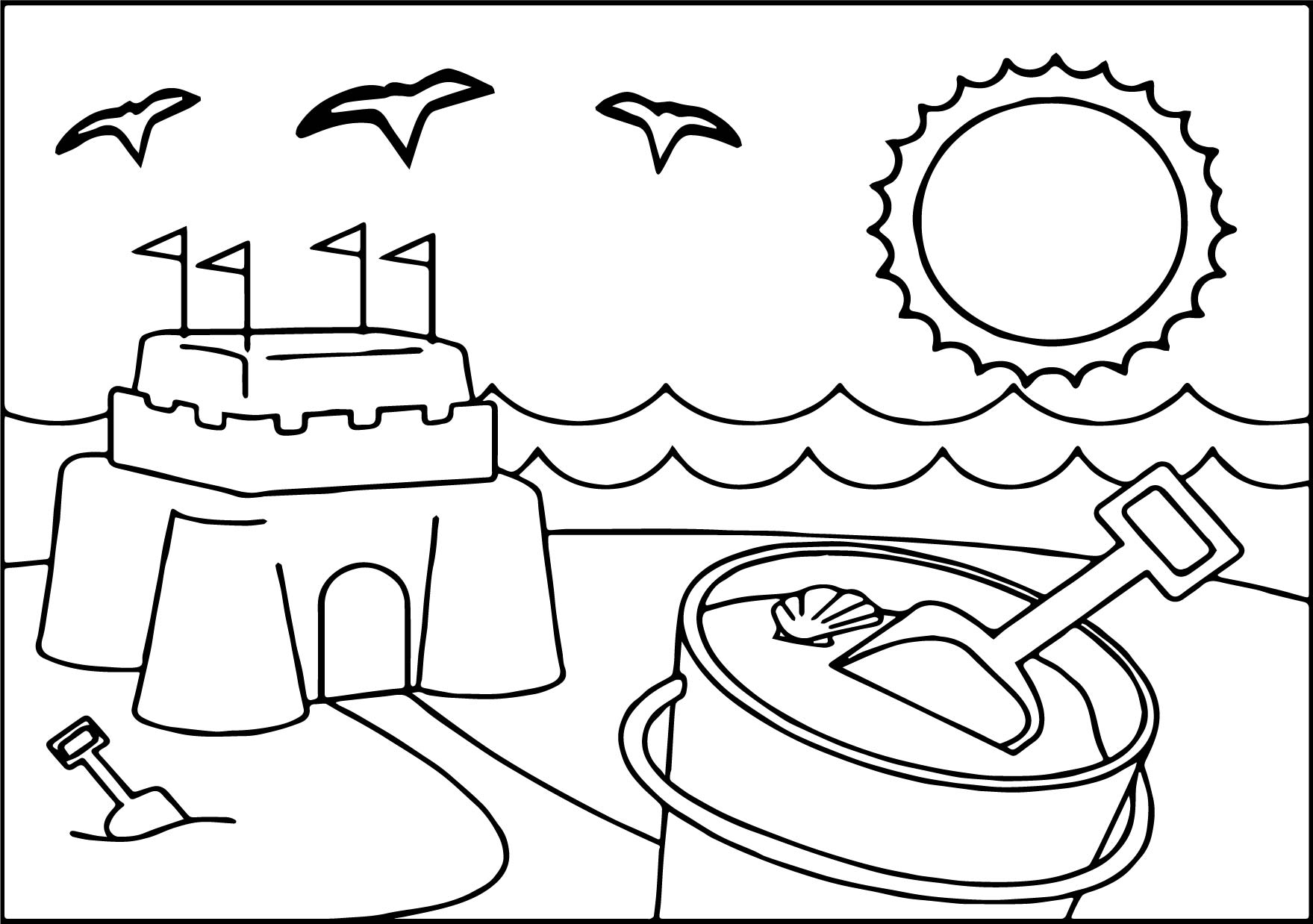 Summer Free Coloring Kids Coloring Pages