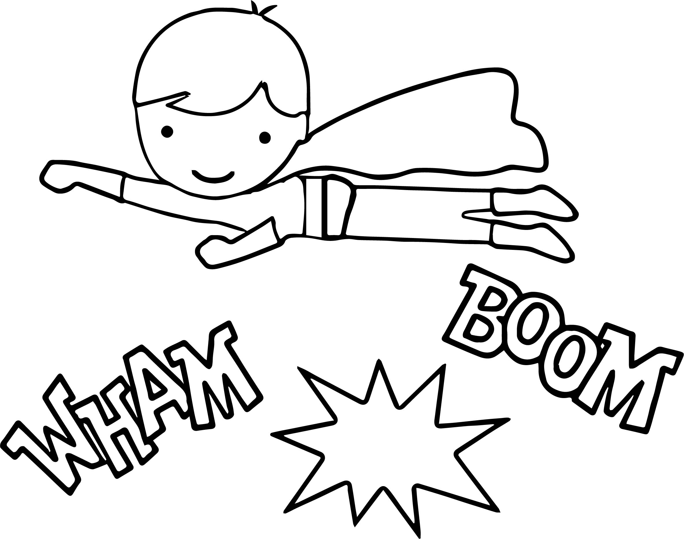 Superheroes Kid Super Hero Coloring Page