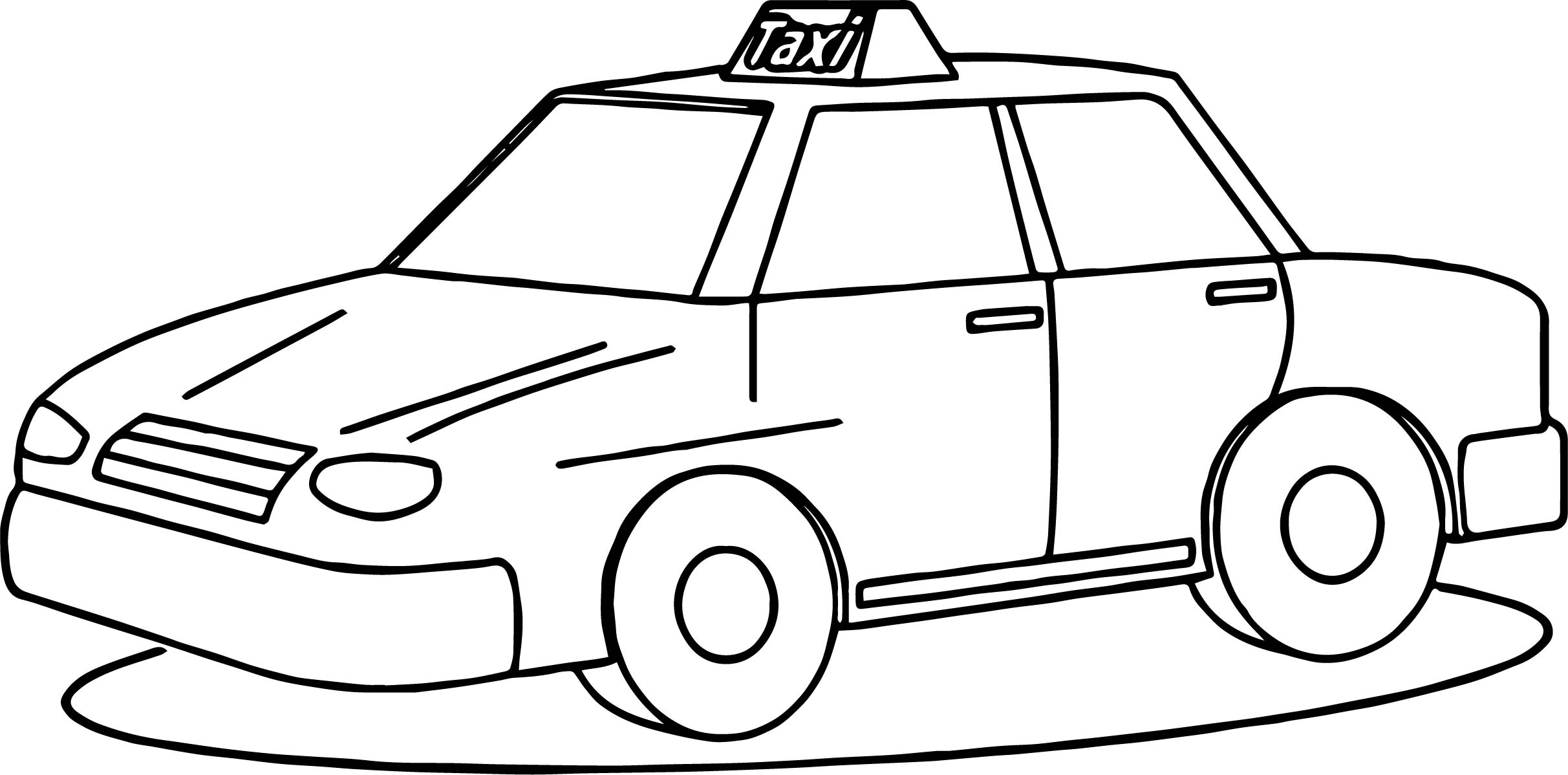 Taxi Driver Fine Car Coloring Page Wecoloringpage
