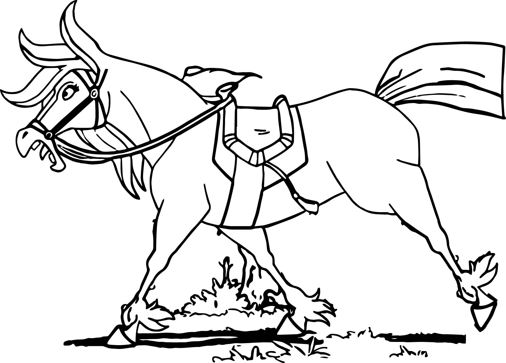 Knight Horse Coloring Pages Sketch Page