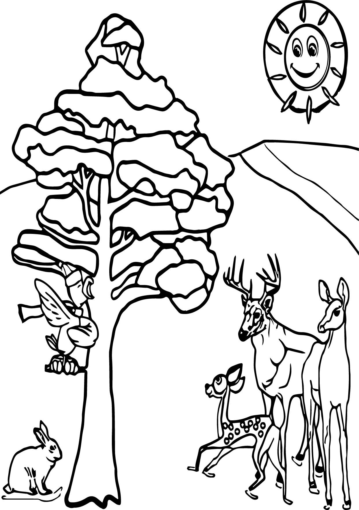 Winter Animals Coloring Page | Wecoloringpage.com | coloring sheets winter animals