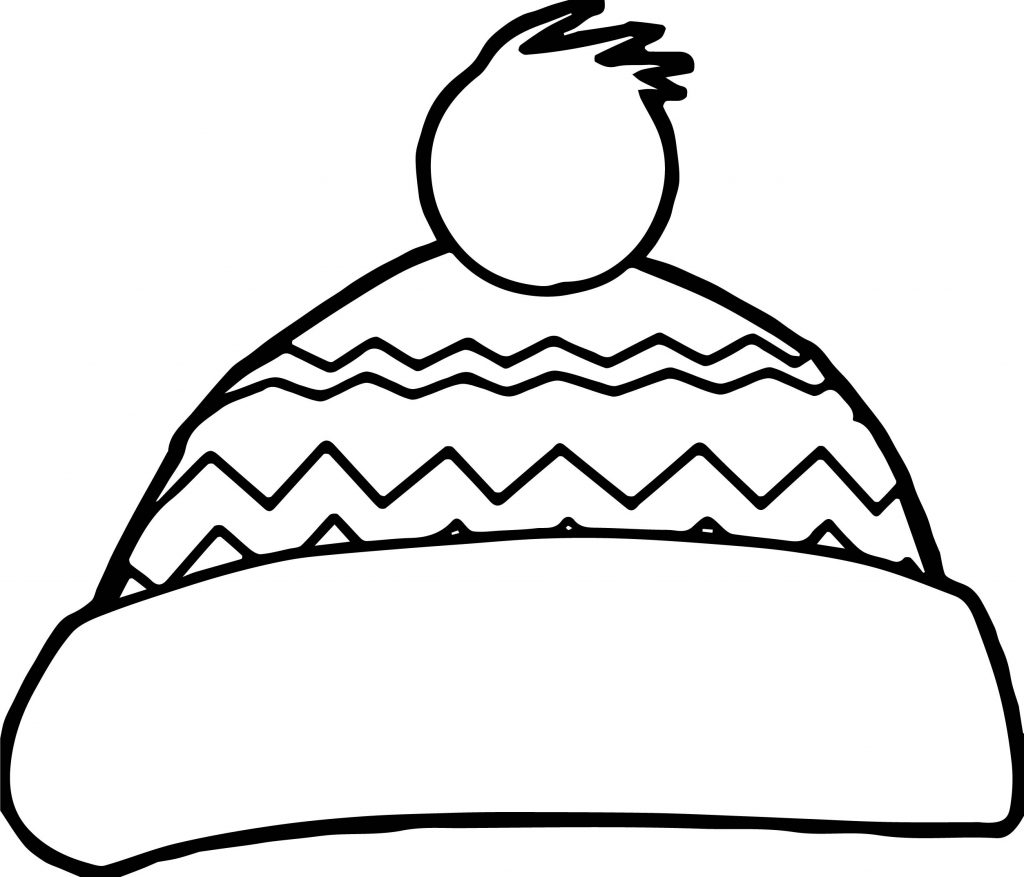 Winter Snow Hat Coloring Page