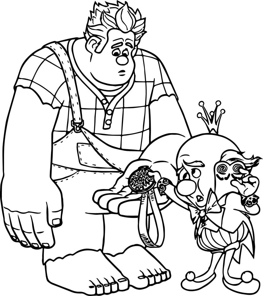 wreck it ralph and king coloring page  wecoloringpage