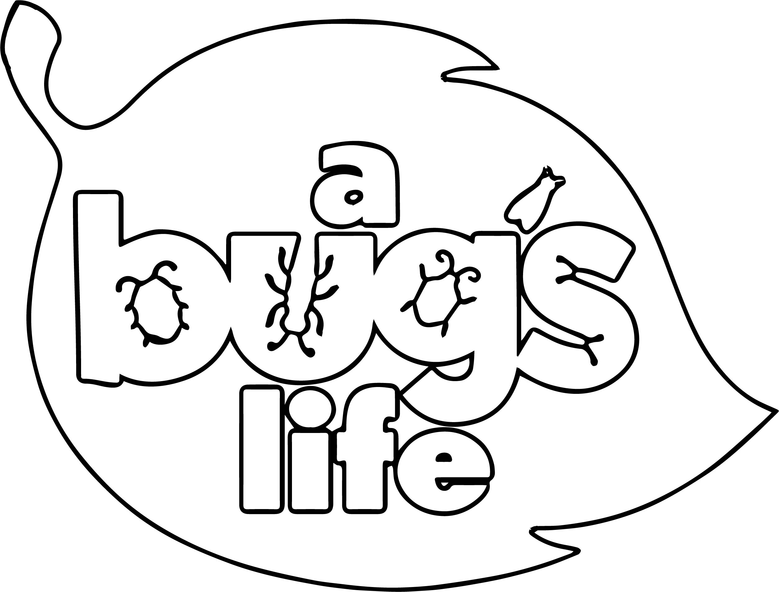 A Bugs Life Logo Leaf Coloring Page