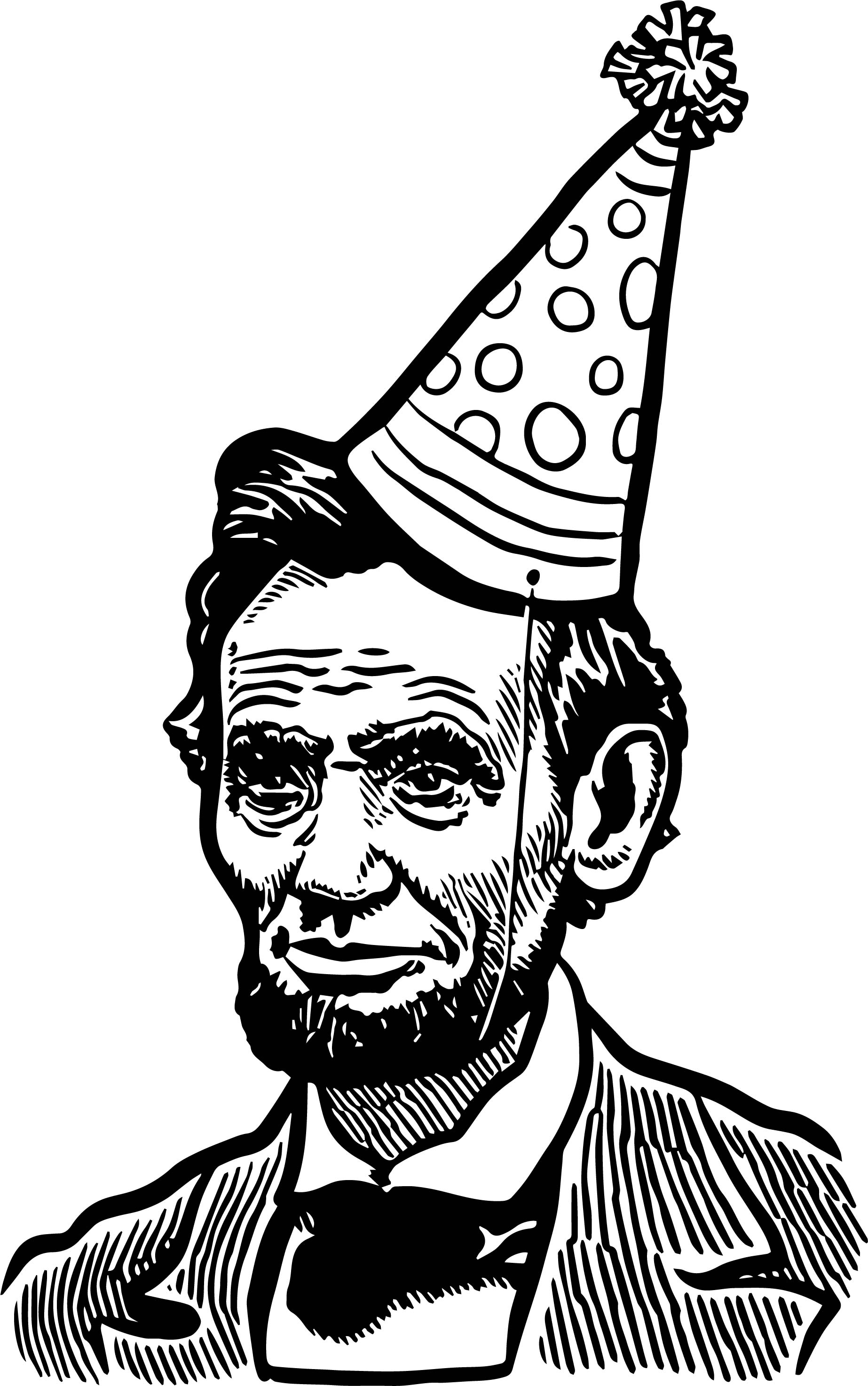 Abraham Lincoln President Celebration Coloring Page