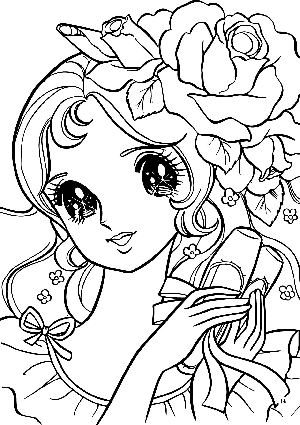 Aeromachia Girl Flower Hair Coloring Pages