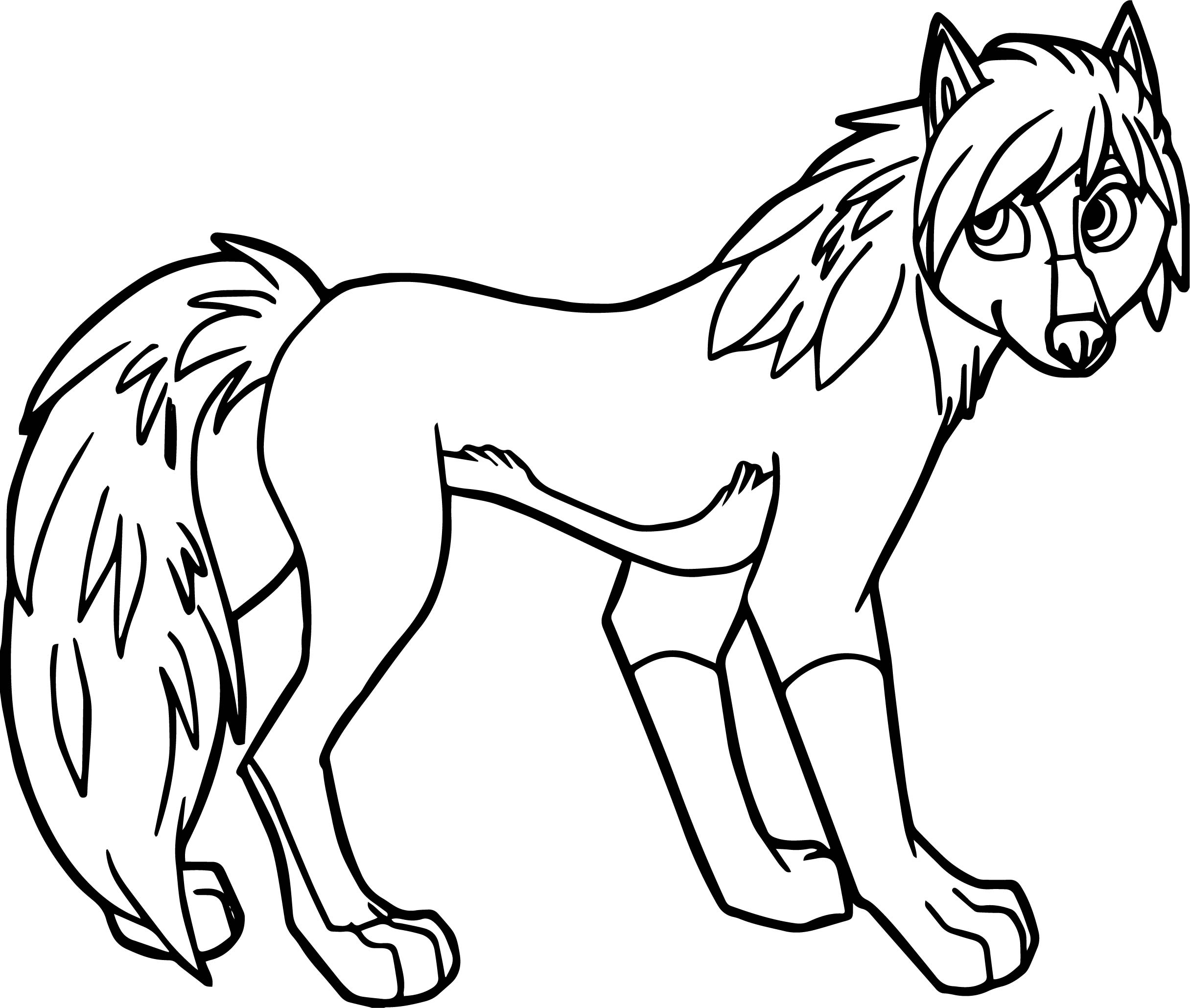 Alpha And Omega Wolf Girl Coloring Page Wecoloringpage