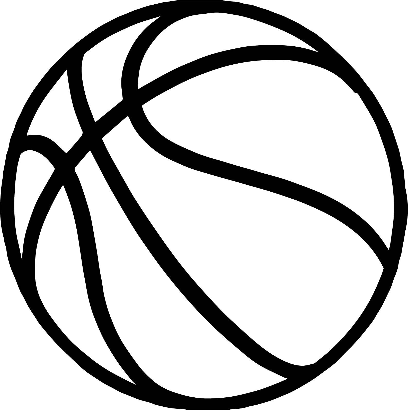 Bold Basketball Ball Coloring Page
