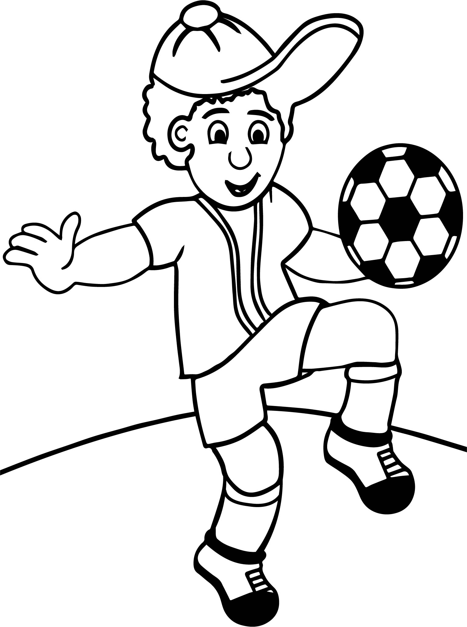 Cartoon Child Playing Football Toots Hallam Playing