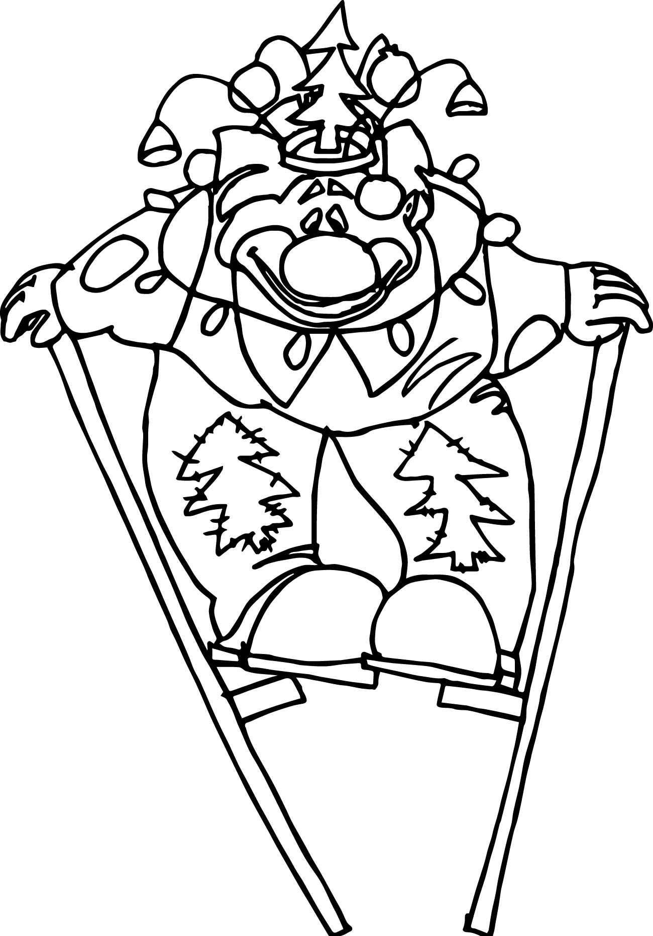 Pages Clown Wigs Coloring Pages