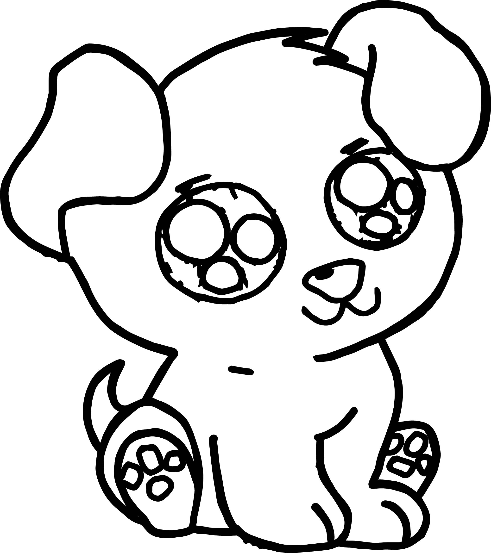 Cute Puppy Free Images Puppy Dog Coloring Page Wecoloringpage