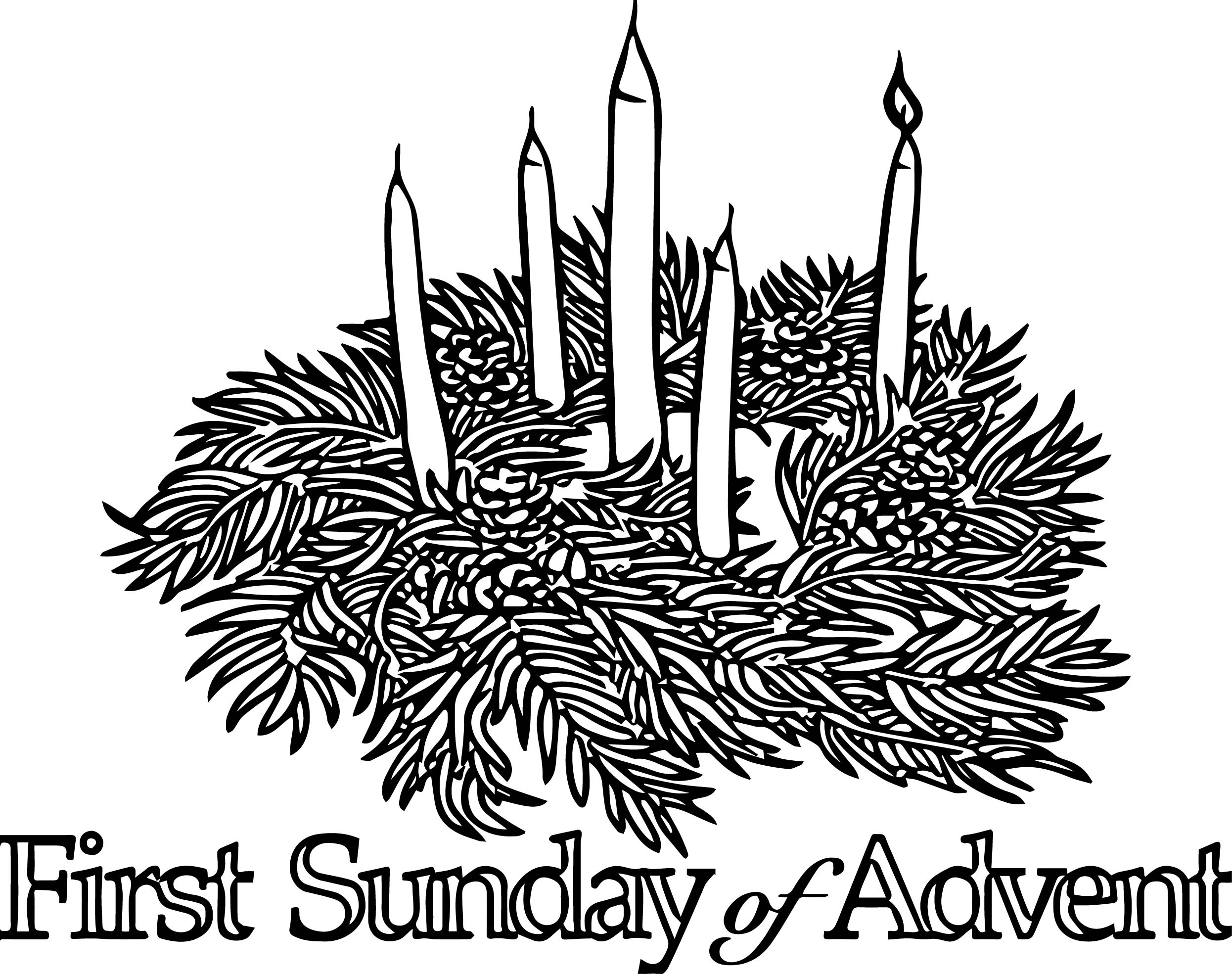 First Sunday Advent Coloring Page Wecoloringpage