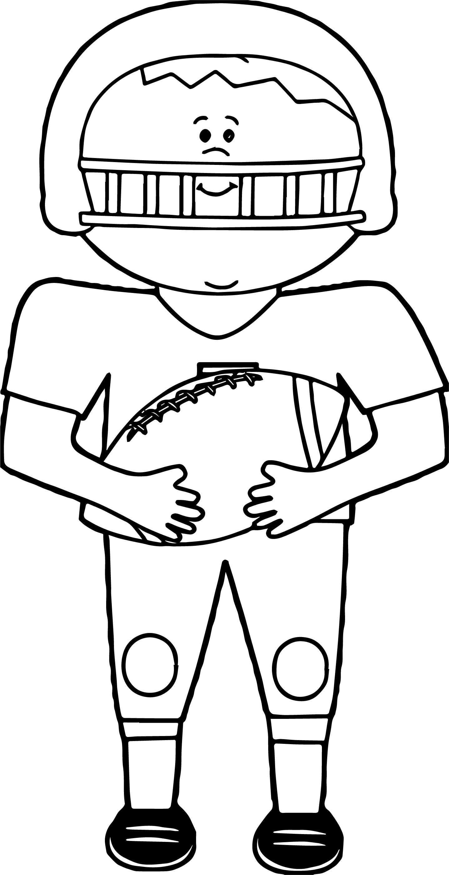 Football Player Playing Catch Ball Coloring Page