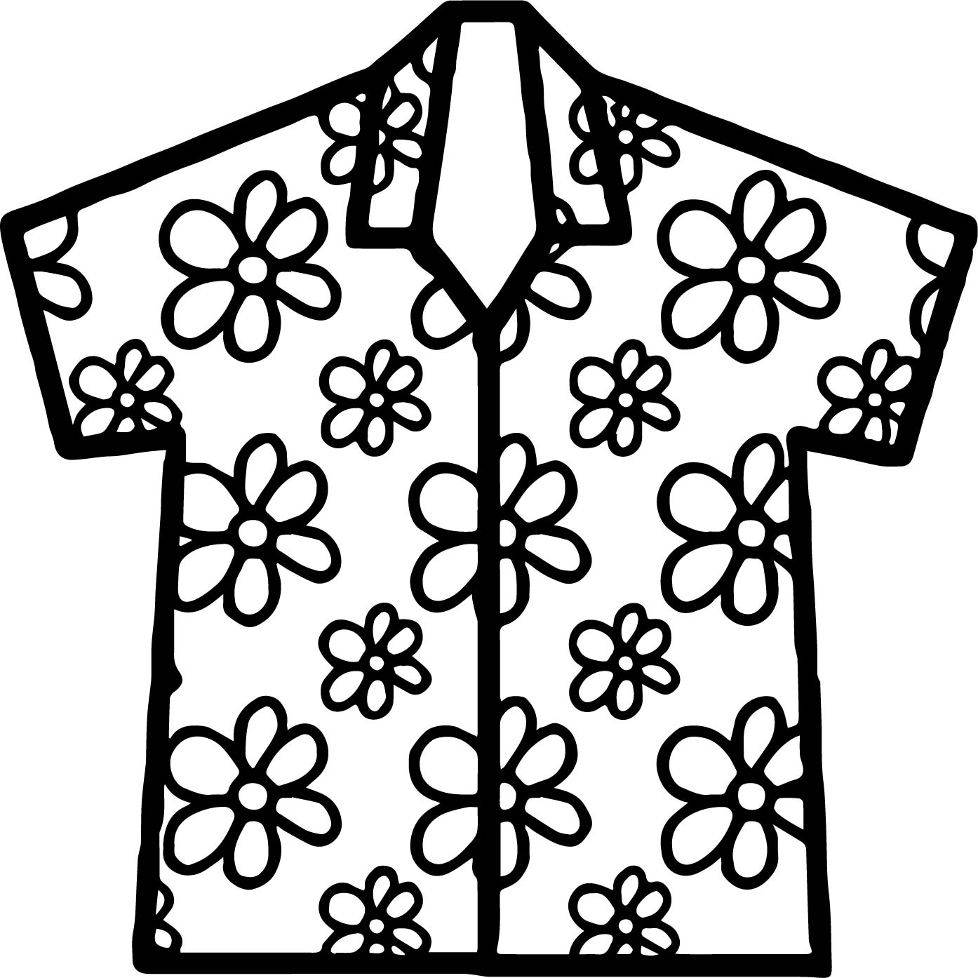 Hawaiian Shirts Coloring Pages