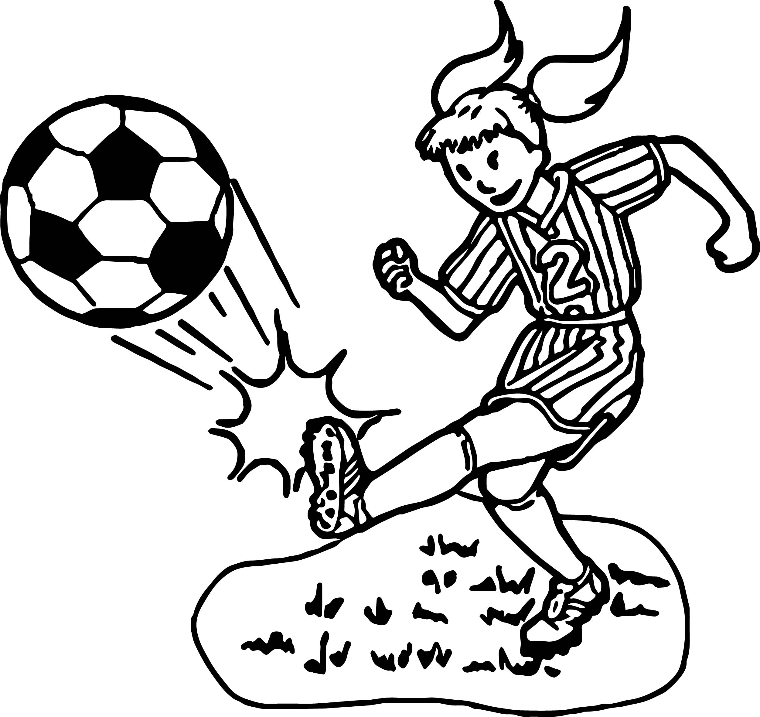 - √ Soccer Girl Coloring Page Coloring Pages Of Girl Soccer