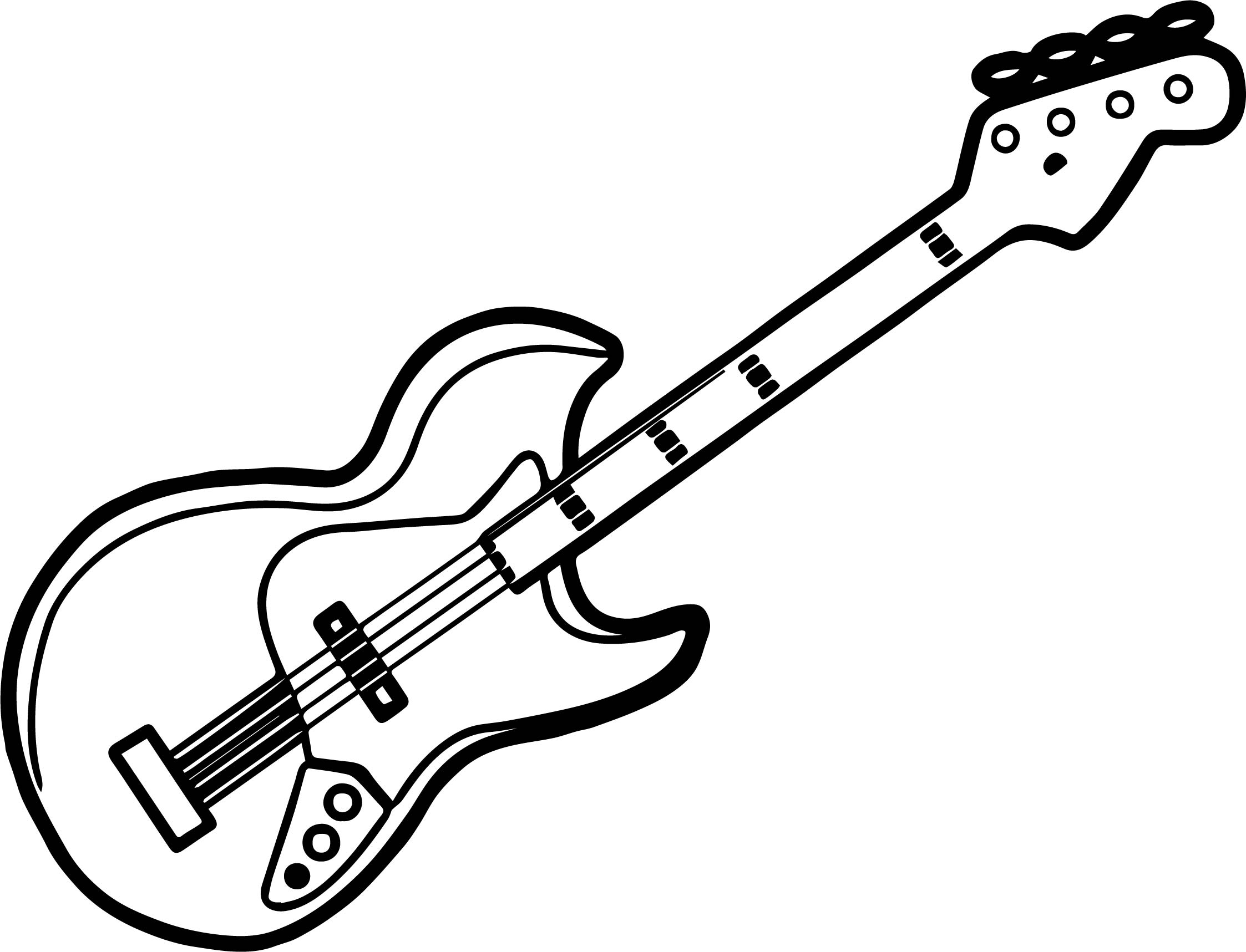 Electric Guitar Coloring Sheet