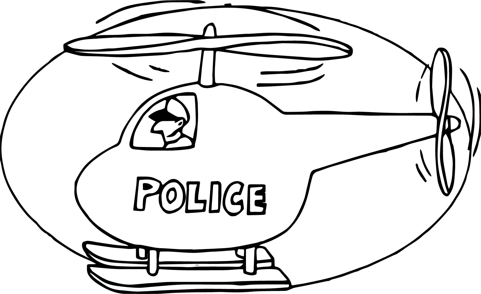 Police Helicopter Coloring Page Wecoloringpage