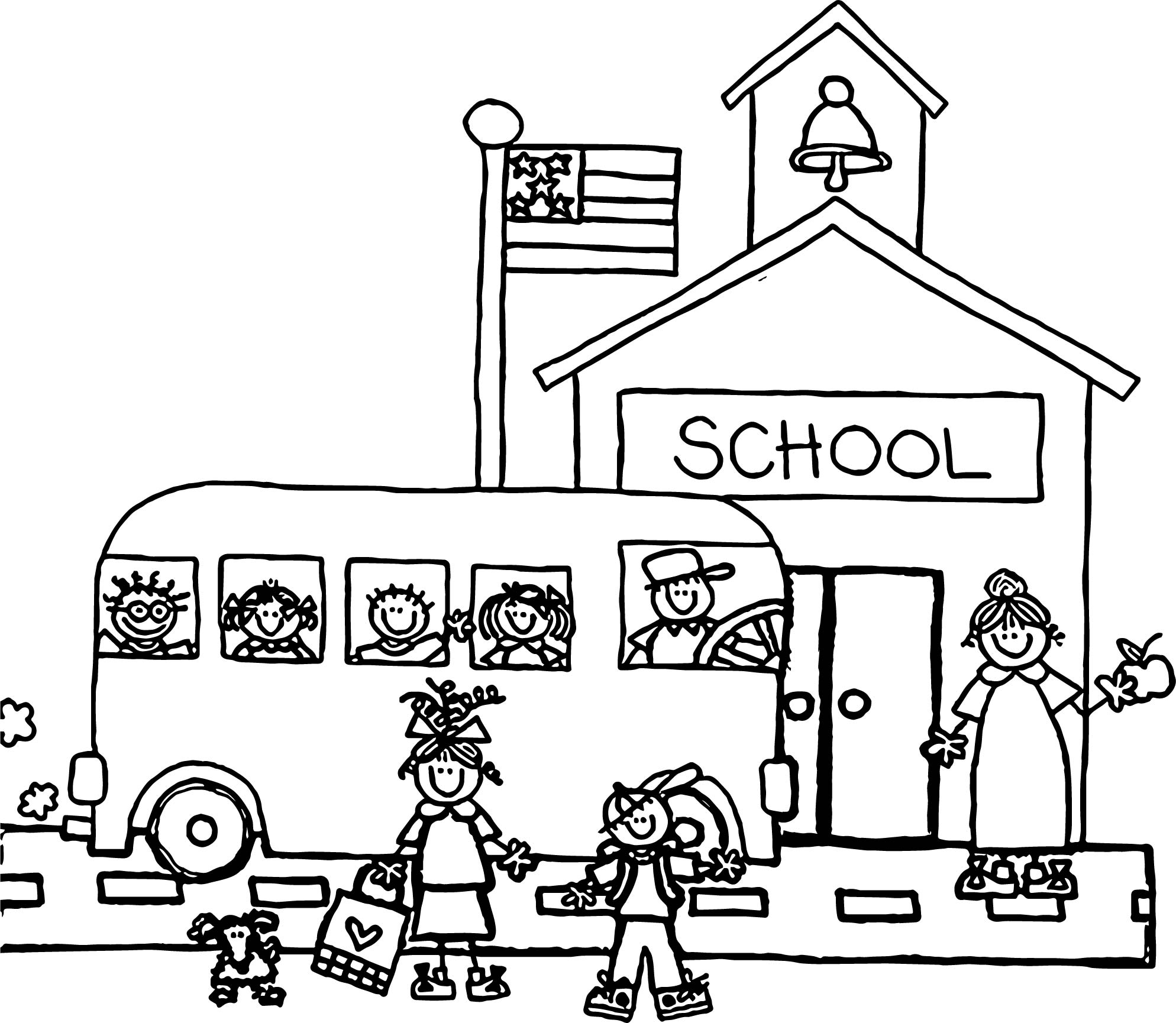 We Help At School Coloring Page Coloring Pages