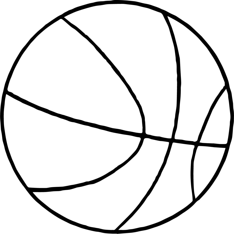 Thin Basketball Ball Coloring Page