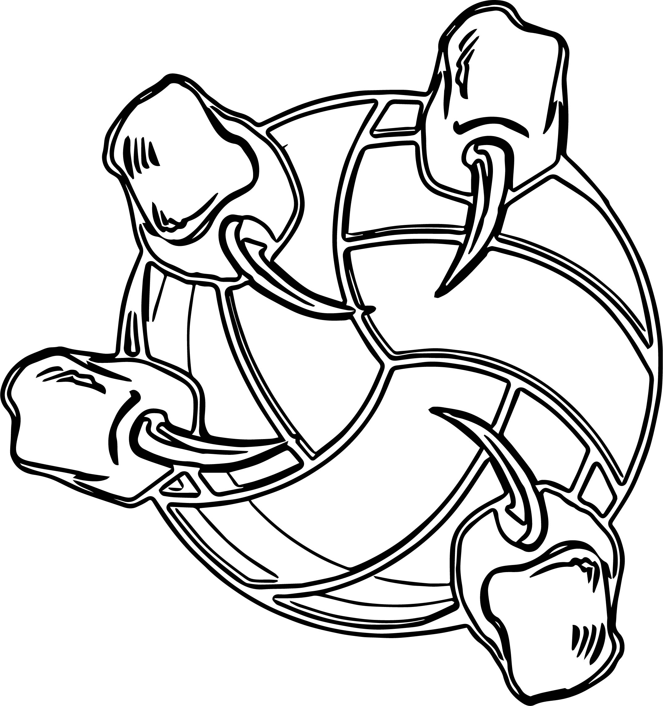 Tiger Hand Volleyball Coloring Page
