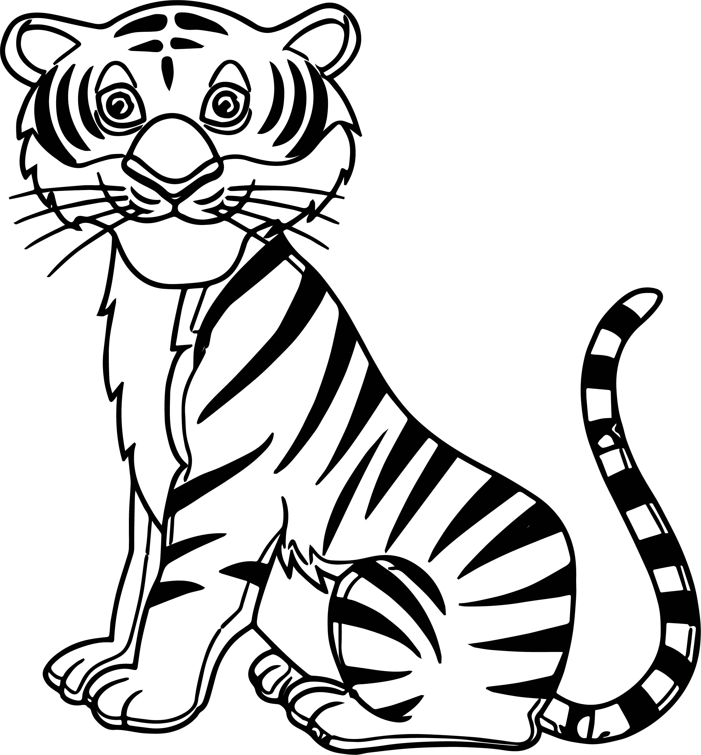 Tiger Smile Coloring Page