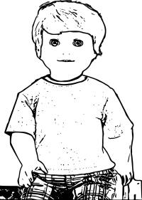 American Girl Boy Doll Alden Coloring Page ...