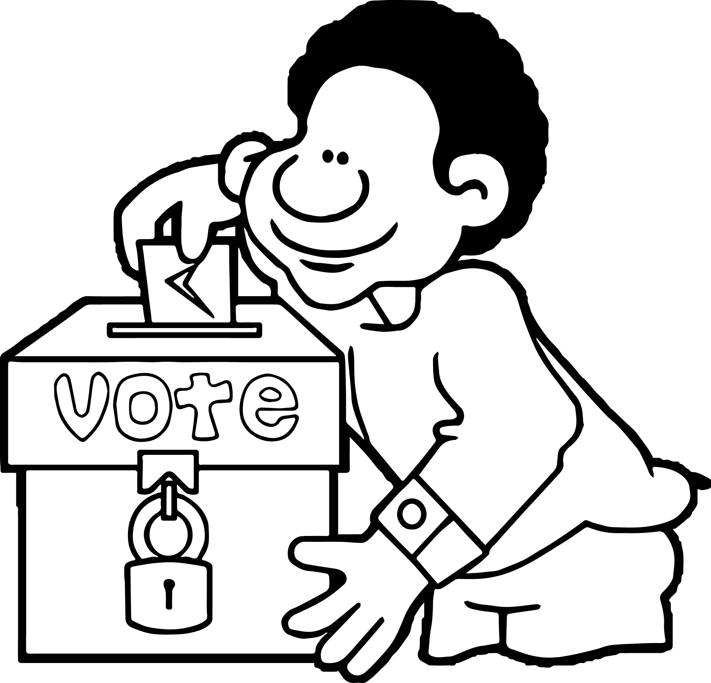 Election Day Coloring Pages Sketch Coloring Page