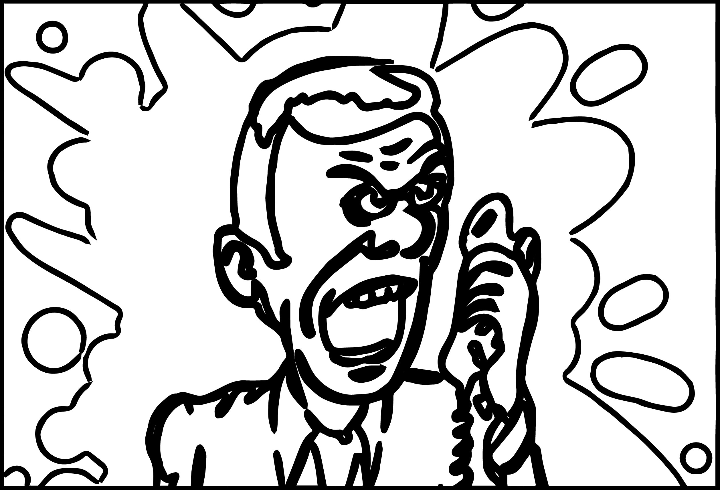 Anger Management Speak Telephone Coloring Page