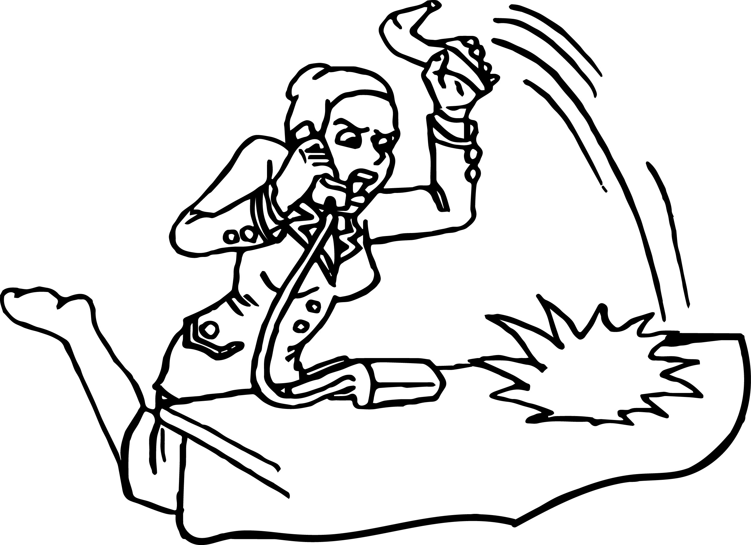 Business Woman Angry Talking Telephone Woman Coloring Page