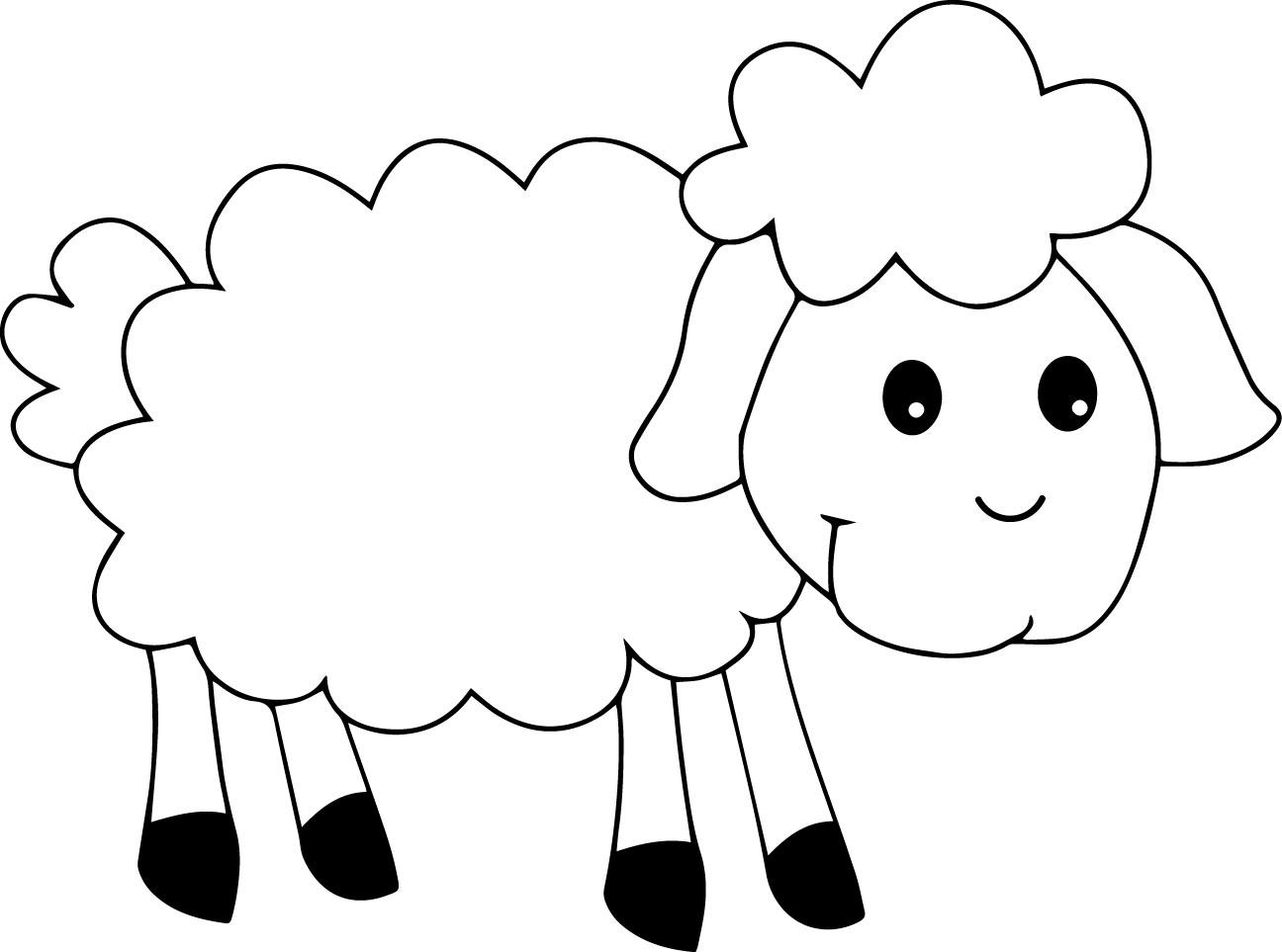 Cute Sheep Coloring Page Wecoloringpage