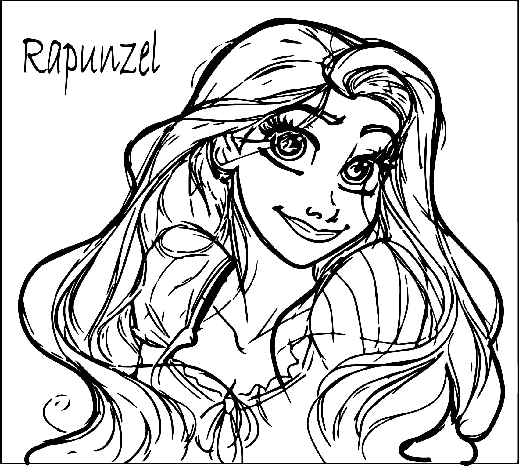 Disney Rapunzel From Tangled Coloring Page Wecoloringpage