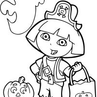 Dora Halloween Coloring Page Widescreen Dora Of For Adults Smartphone High Quality